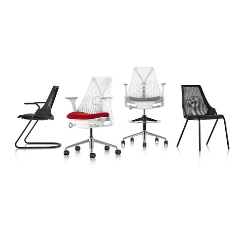 herman miller sayl side stackable chairs